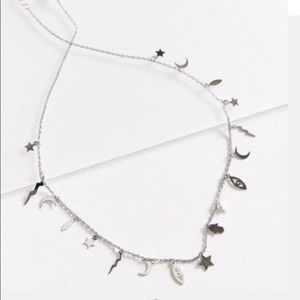 urban outfitters silver celestial chocker